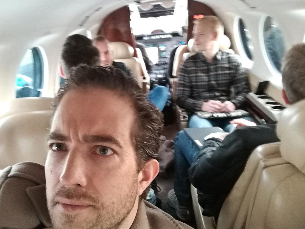 Vi fløj hjem