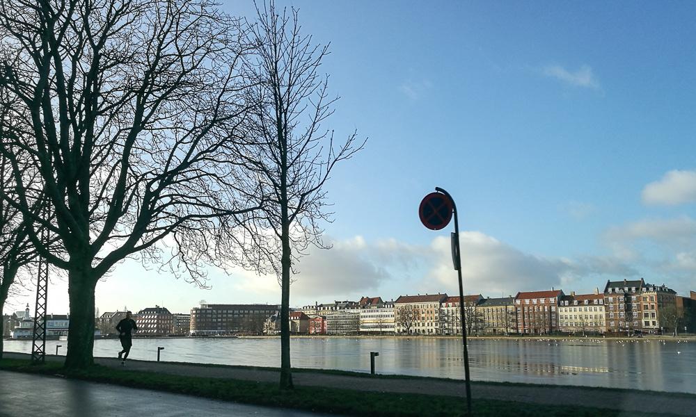 Søerne. I solskin.