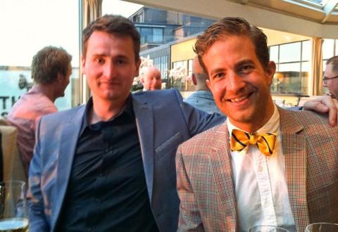 Der blev spist i godt selskab - her med Brian fra Gastromand.dk. Skudt af anneauchocolat.dk