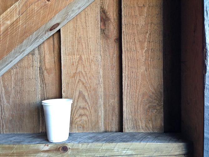 Kaffeskuddet blev rykket til skuret.