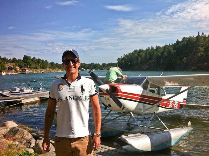 Min første tur i vandflyver blev en succes! Video følger.