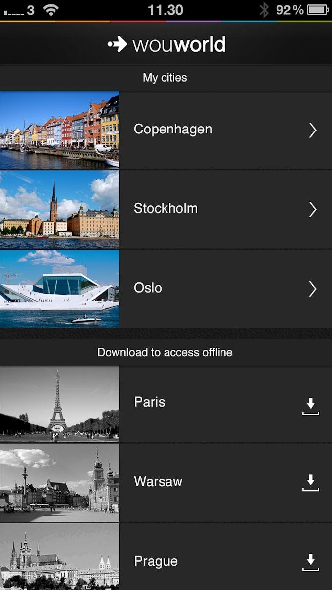 Et udpluk af byerne - og det smarte er, at du kan downloade dem hjemmefra, så du slipper for skyhøje mobiltakster i udlandet.