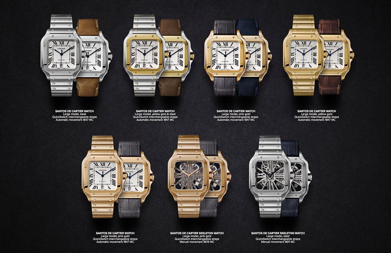 Cartier Santos gold