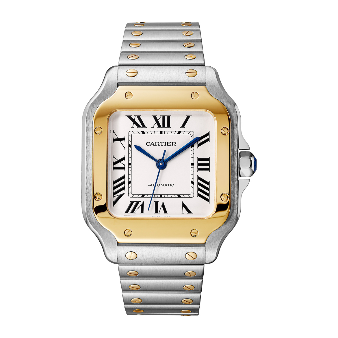cartier santos gold steel