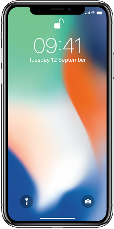 iPhone X skærm